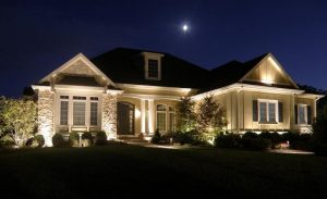 Image of outside landscape lighting near Raleigh, NC